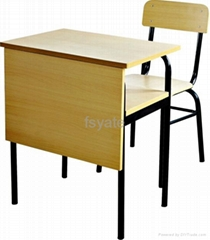 MDF with melamine surface school desk