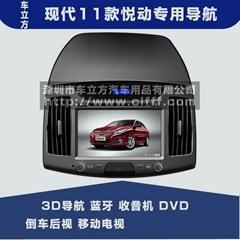 现代11款新悦动汽车DVD导航仪