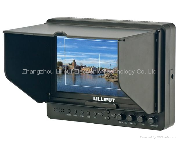"""LILLIPUT 7"""" LCD Video Camera Monitor with Peaking (665/O/P) 2"""
