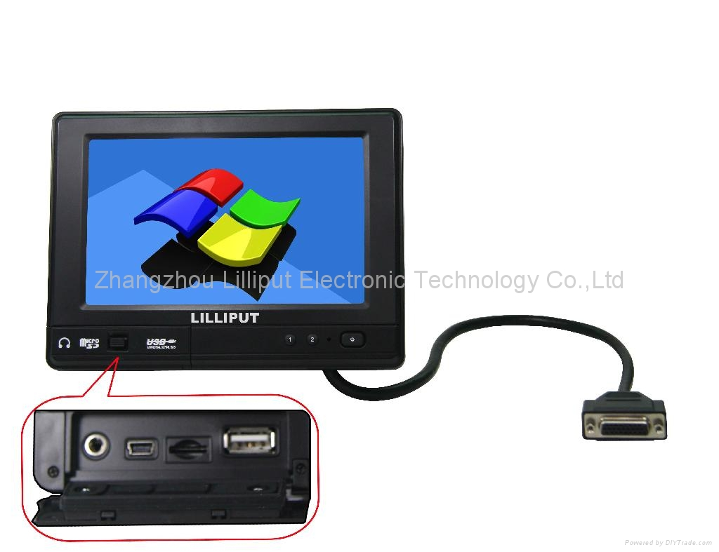 "LILLIPUT 7"" Portable Industrial PC with WinCE 6.0/Linux 2.6.32 with IP64 PC765"