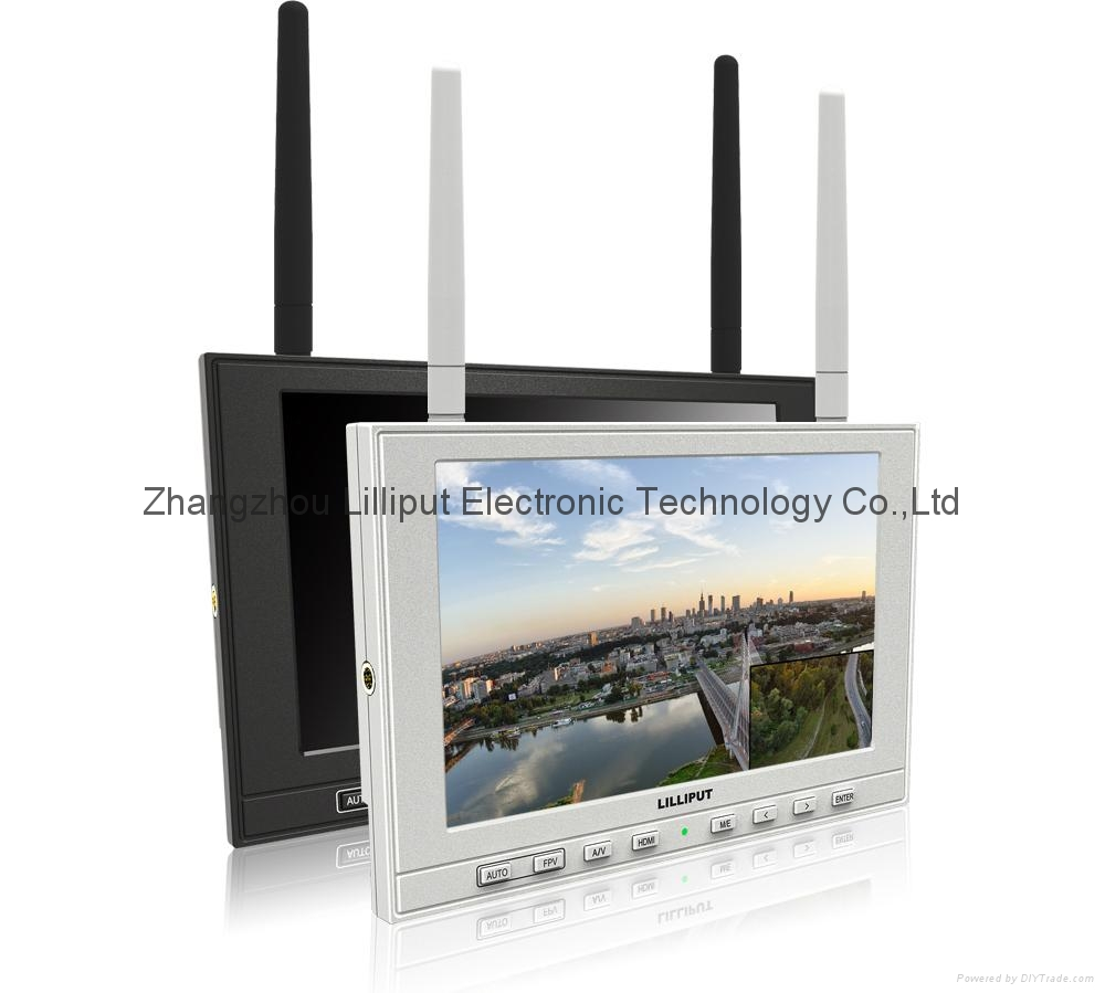 """7"""" FPV Monitor, Channel auto searching  (339DW) 1"""
