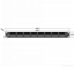 8*2'' 1RU Rack Mount Monitor RM-0208/S