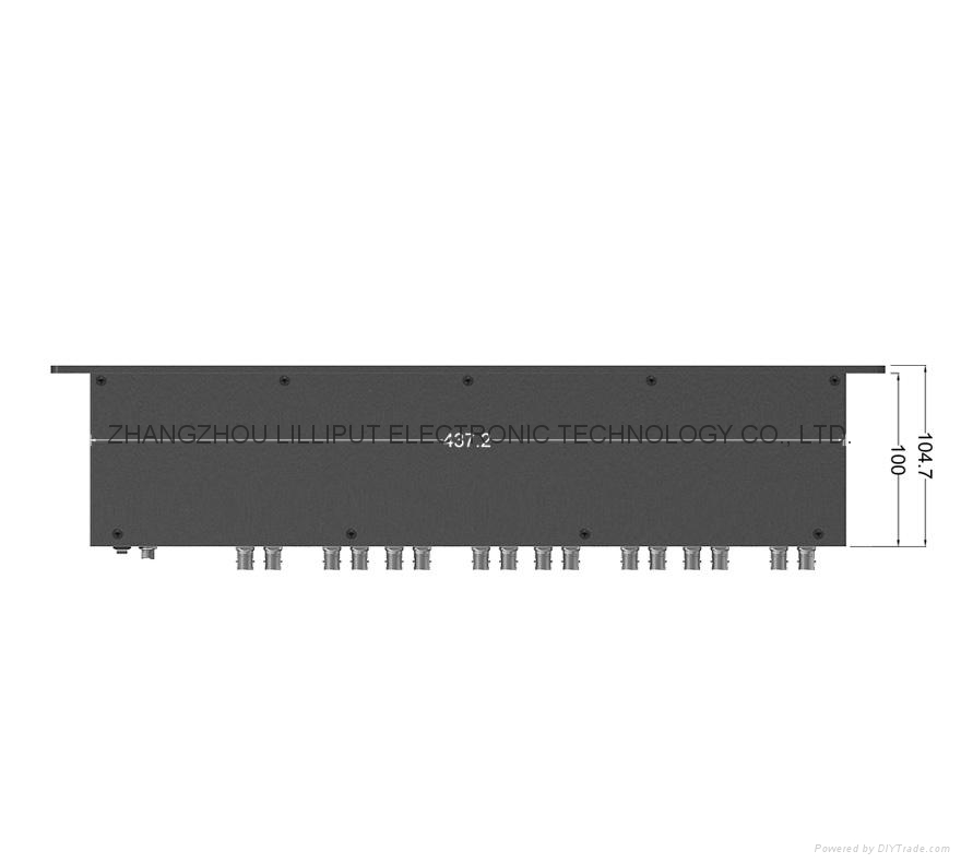 8*2'' 1RU Rack Mount Monitor RM-0208/S 4