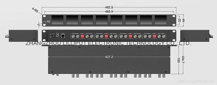 8*2'' 1RU Rack Mount Monitor RM-0208/S 5