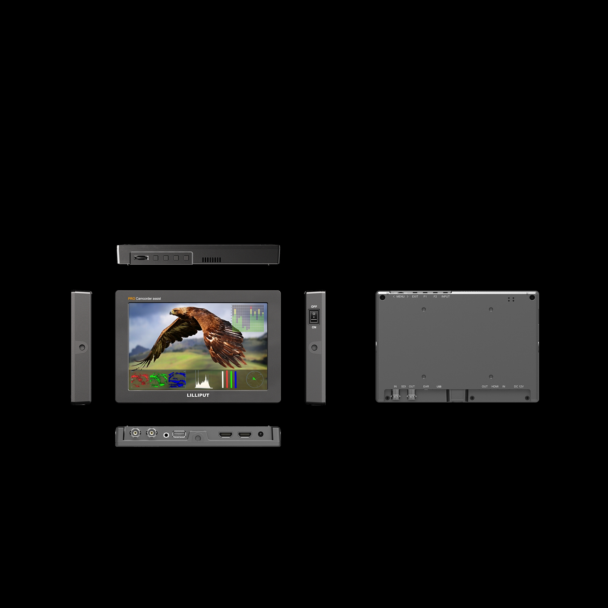 Professional Video On Camera Monitor with HDR, 3D-LUT