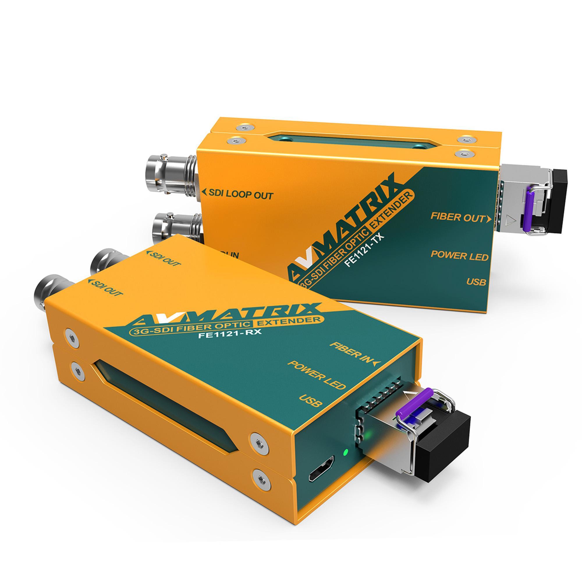 AVMATRIX 3G-SDI FIBER OPTIC EXTENDER