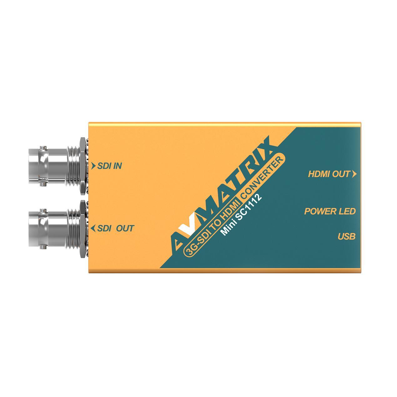 AVMATRIX 3G-SDI to HDMI Pocket-size broadcast Converter 3