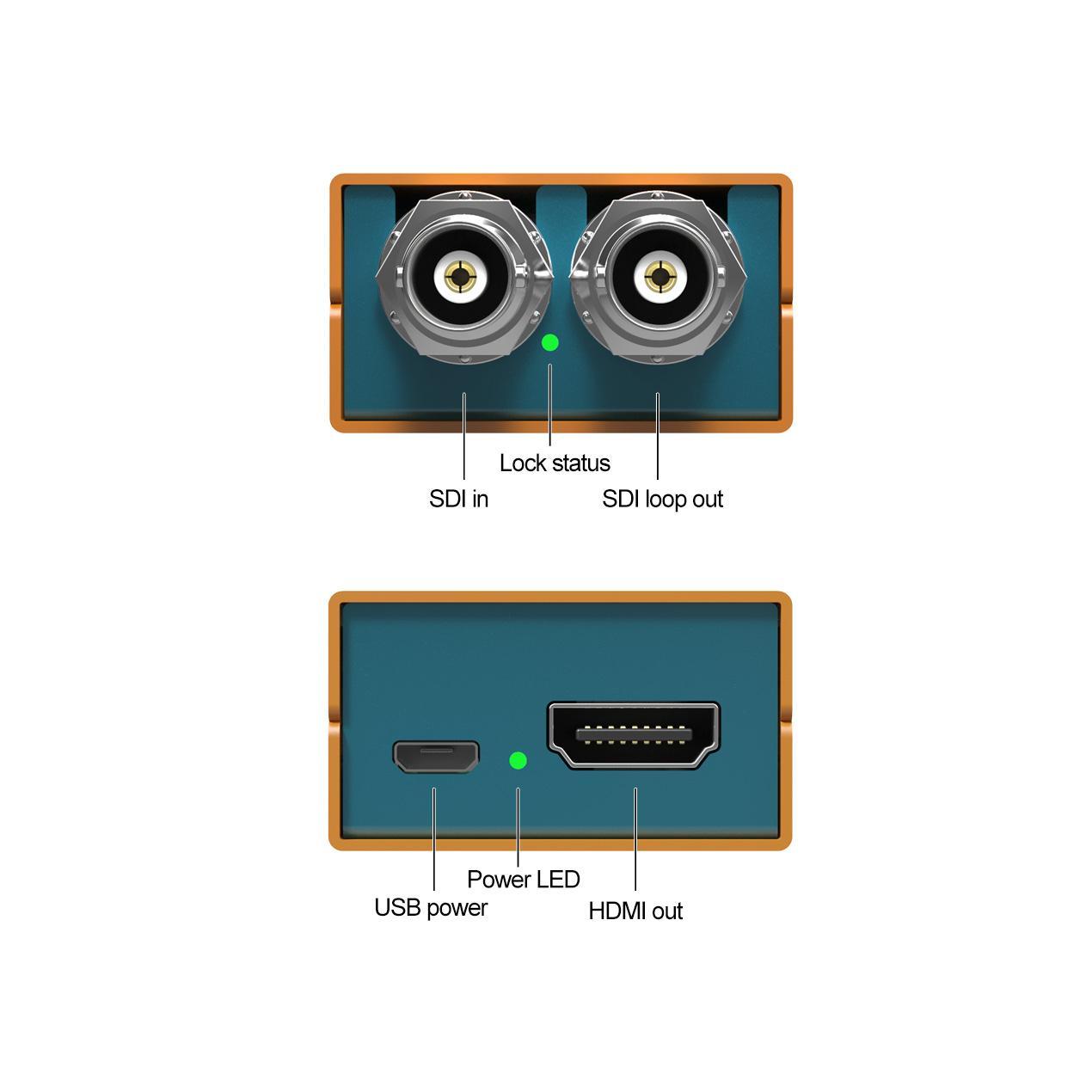AVMATRIX 3G-SDI to HDMI Pocket-size broadcast Converter 5