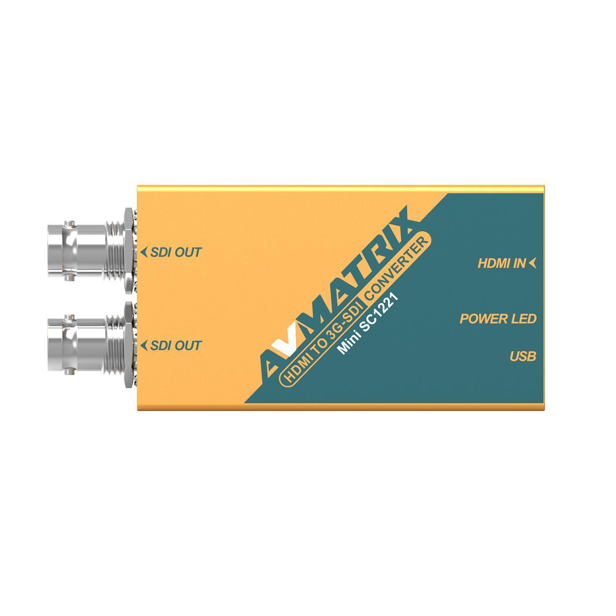 AVMATRIX HDMI to 3G-SDI Pocket-size broadcast Converter 3