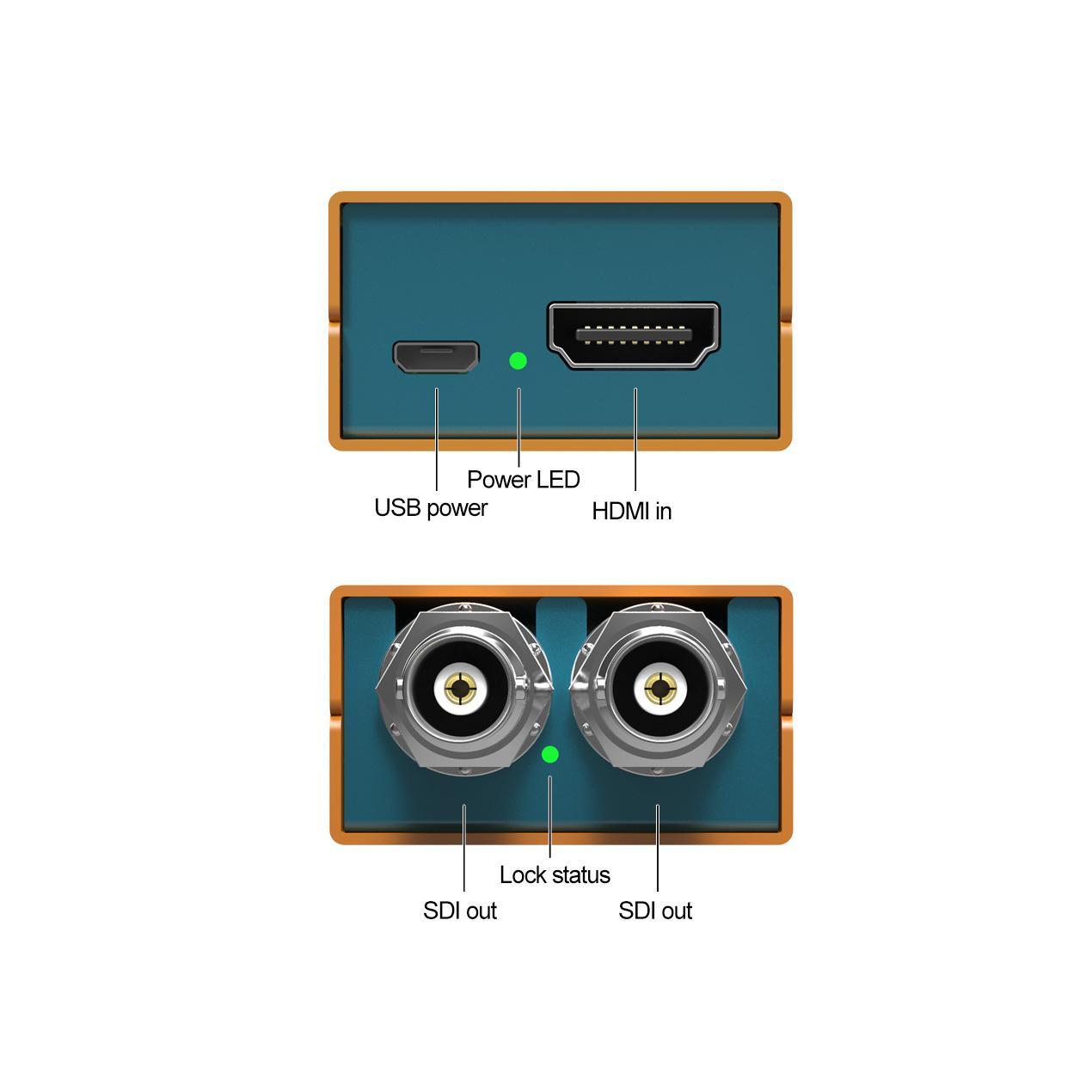 AVMATRIX HDMI to 3G-SDI Pocket-size broadcast Converter 4