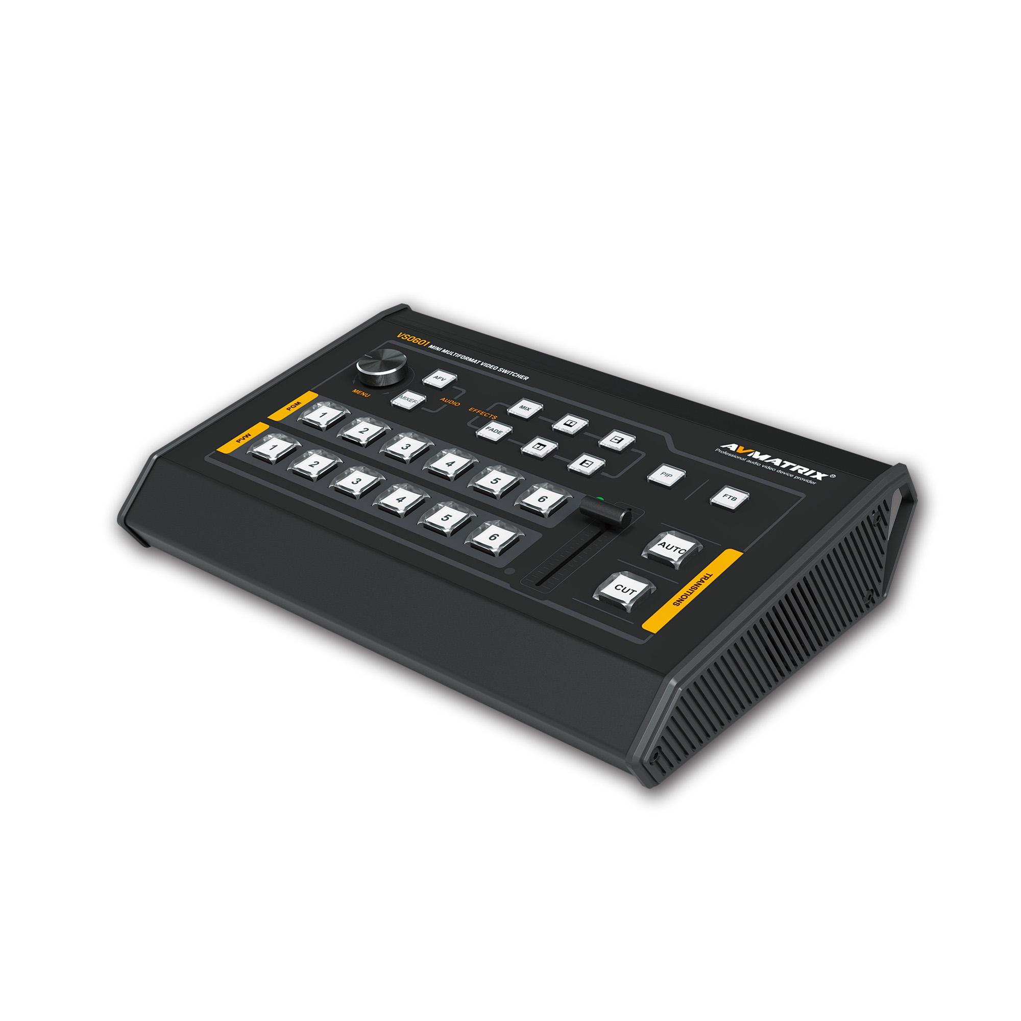 AVMATRIX mini 6 Channel Multi-format Video Switcher