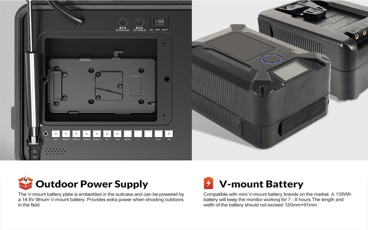 LILLIPUT BM120-4KS Broadcast Director Monitor Portable Film Production Monitor 5