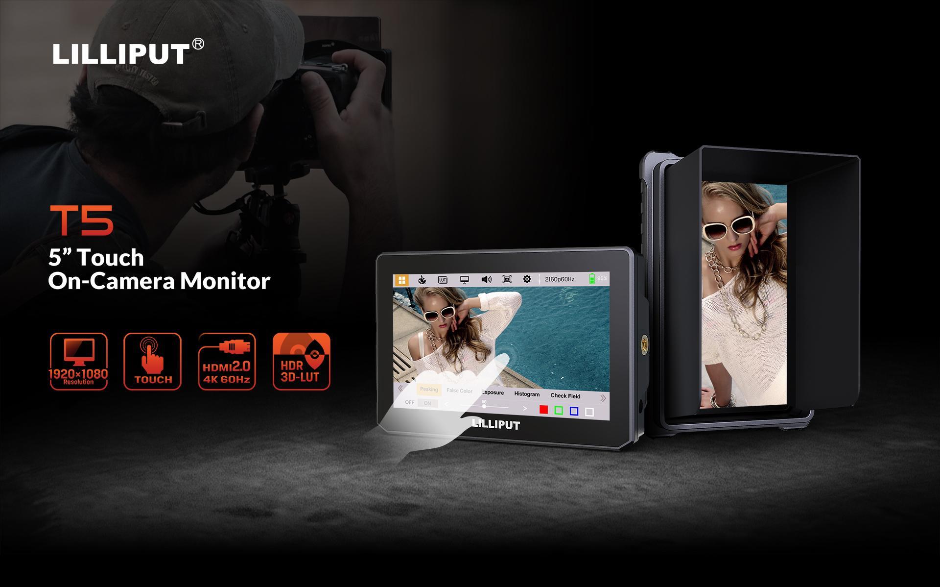 LILLIPUT 5inch TOUCH HDMI2.0 Camera Monitor 4