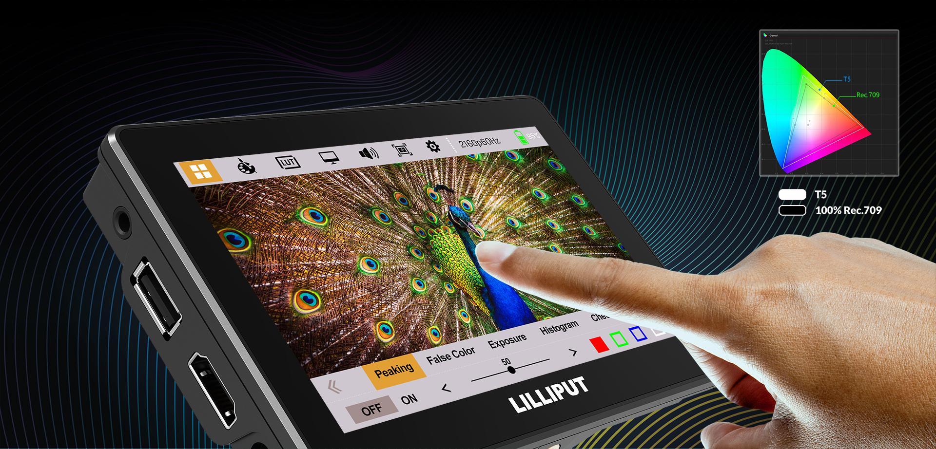 LILLIPUT 5inch TOUCH HDMI2.0 Camera Monitor 6
