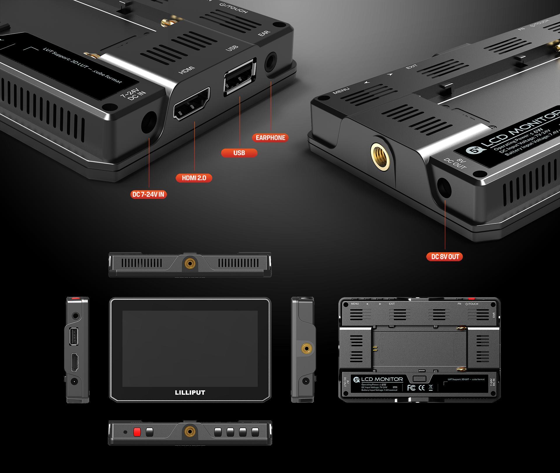 LILLIPUT 5inch TOUCH HDMI2.0 Camera Monitor 11