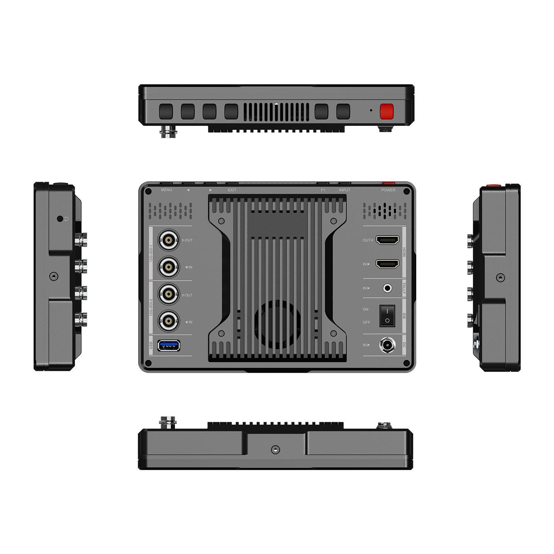 7inch 2000nits 12G-SDI Ultra Brightness On-Camera Monitor 9
