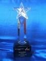 珠海水晶獎杯 珠海獎杯 五星獎