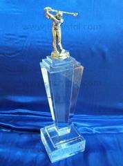 水晶獎杯 珠海水晶獎杯 高爾夫獎杯