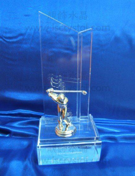 水晶獎杯 珠海水晶獎杯 高爾夫獎杯 2