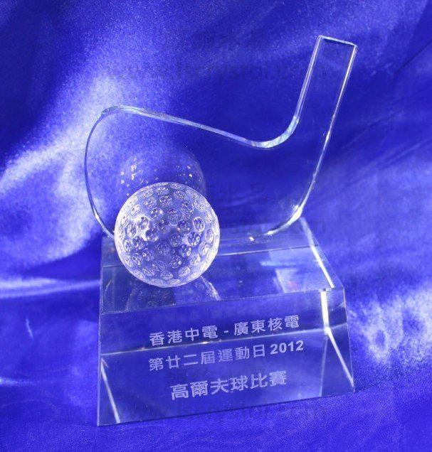 水晶獎杯 珠海水晶獎杯 高爾夫獎杯 3