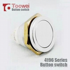 19MM waterproof metal pushbutton switch ip67 momentary