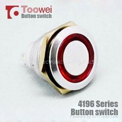 19MM metal ring illuminated push button switch