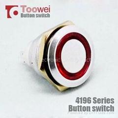 19MM metal ring illuminated push button switch