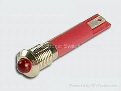 24V 6mm,8mm,12mm waterproof led indicator light