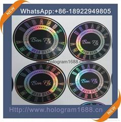 Hot sale hologram laser  sticker printing