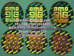 Encryption hologram sticker labels