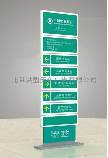 农行功能分区指示牌广告广告牌展示架促销 2
