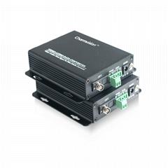 4路數字監控視頻光端機1路反向485控制數據