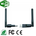 Stylish 150Mbps high quality wifi dongle with external antenna 2