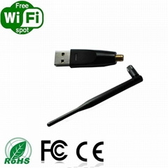 mini 150Mbps wifi USB dongle with RP-SMA antenna