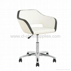 swivel chrome gaslift bar stool 3333