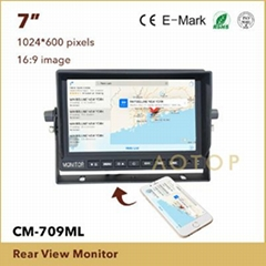 7inch mirror link car monitor