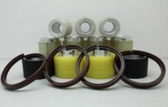 開槽印刷壓線包膠輪