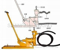 Hand operate grout pump