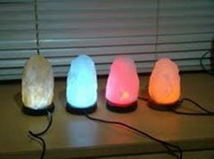 Natural USB Led Salt lamps home decor