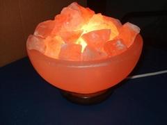 Amazing Himalyan Crystal Salt Bowl with salt chunks