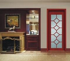 廠家熱賣XJS-141鑫順來玻璃雕花烤漆實木門