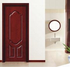 新品推薦XJS-037鑫順來拼接裝板雕花烤漆實木門
