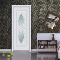 新品熱賣XJS-151鑫順來玻璃雕花烤漆實木門