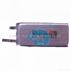 lipo battery 503072 3.7V 700mah rechargeable battery for MP3 player etc
