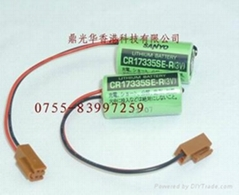Sanyo CR17335SE-R ( CR17450SE-R ) with plug Lithium battery for PLC battery