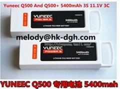 Yuneec  Q500+ 5400mAh 3S 11.1V 3C LiPo Battery #YUNQ500105 For Horizon Hobby Q5
