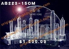 香港維港景大廈水晶擺設