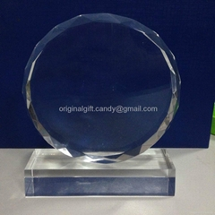 水晶獎牌,水晶獎座,現貨水晶獎牌,crystal trophy,crystal paper weight