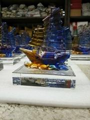 水晶琉璃帆船