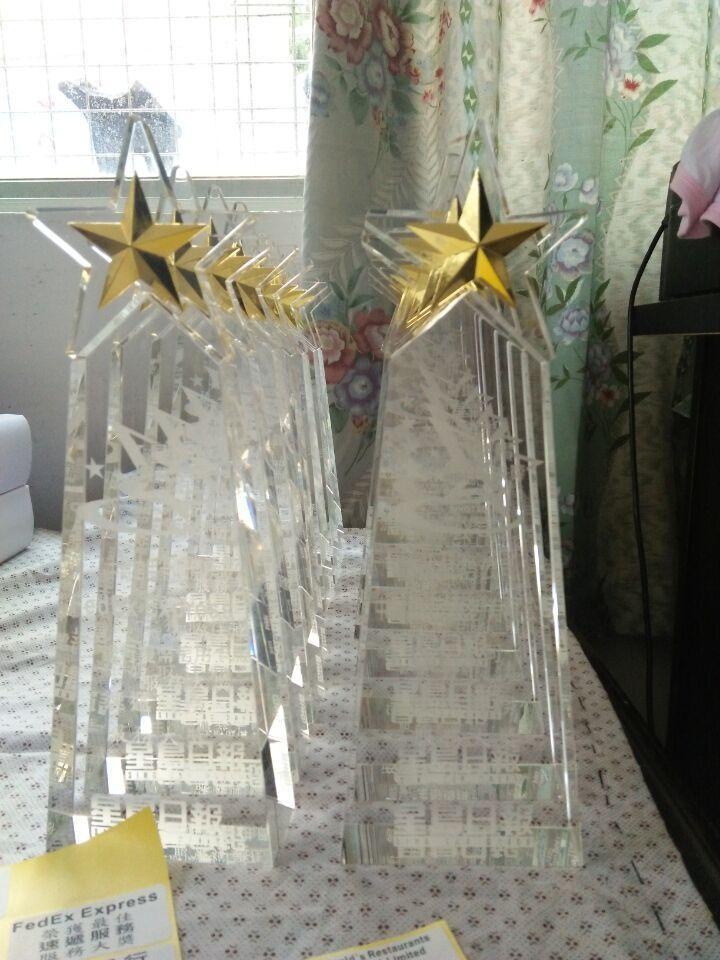 水晶奖牌,水晶奖座,订做水晶奖牌 5